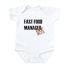 Off Duty Fast Food Manager Infant Bodysuit