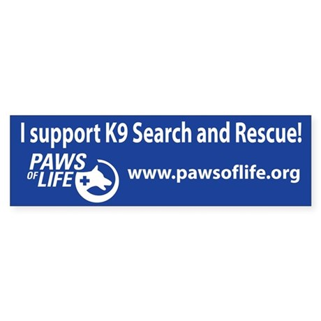 K9 Search and Rescue Support Sticker