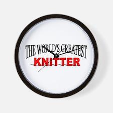 """The World's Greatest Knitter"" Wall Clock"