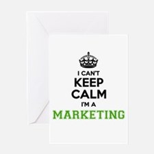 Marketing I cant keeep calm Greeting Cards