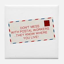 Unique Postal Tile Coaster