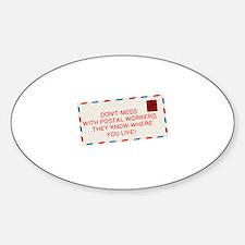 Cute Postal Sticker (Oval)