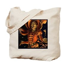 Magic Devil Halloween Postcard Art Tote Bag
