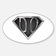 SuperDO(metal) Oval Decal