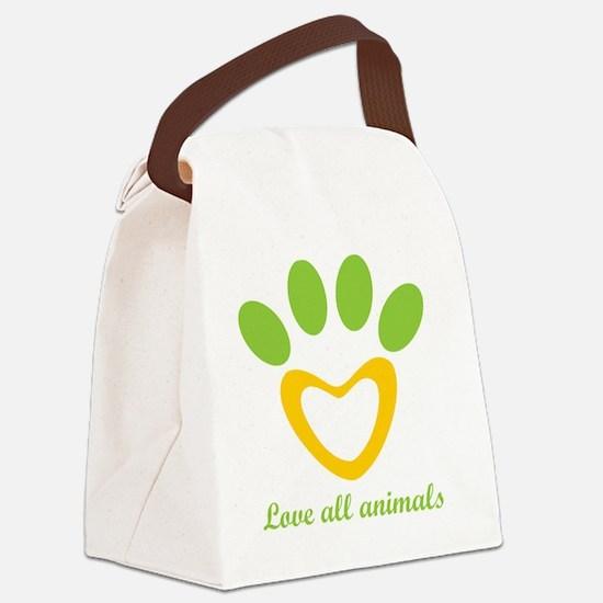Unique Horse shelter Canvas Lunch Bag