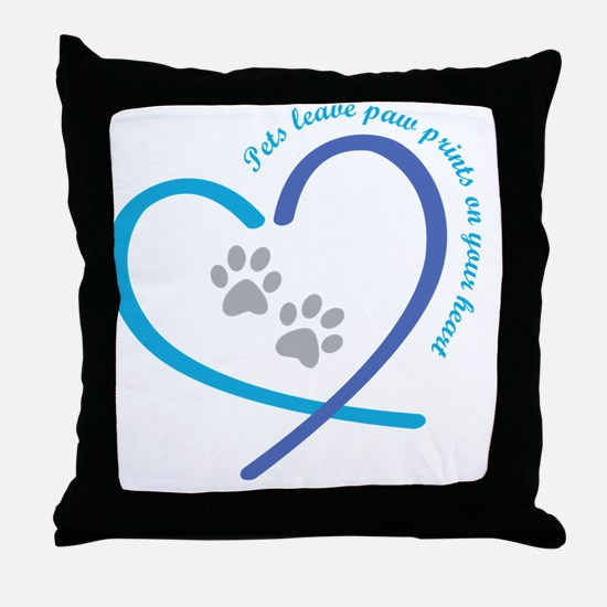 Cute I love dogs Throw Pillow