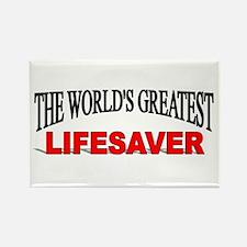 """The World's Greatest Lifesaver"" Rectangle Magnet"