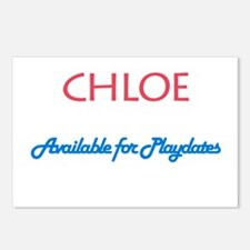 Chloe - Available For Playdat Postcards (Package o