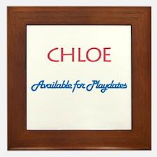 Chloe - Available For Playdat Framed Tile