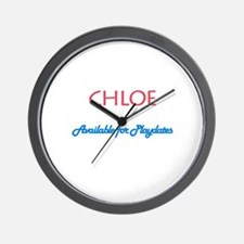 Chloe - Available For Playdat Wall Clock