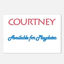 Courtney - Available For Play Postcards (Package o