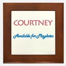 Courtney - Available For Play Framed Tile