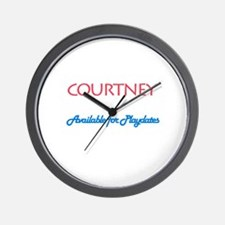 Courtney - Available For Play Wall Clock