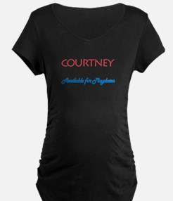 Courtney - Available For Play T-Shirt