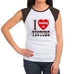 I Love Somebody On YouTube Women's Cap Sleeve T-Sh