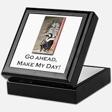 Make My Day Skunk Keepsake Box