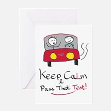 Keep Calm Driving Test 2 Greeting Cards