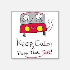 Keep Calm Driving Test 2 Sticker