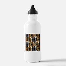 Golden and silver hexa Water Bottle
