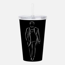 male model on fashion Acrylic Double-wall Tumbler