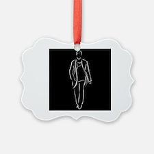 male model on fashion show Ornament