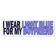 I Wear Light Blue For My Boyfriend 5 Bumper Sticker