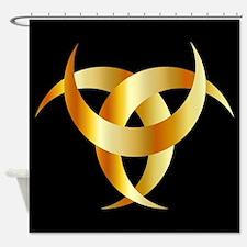 Horned Triskele- The horn of Odin Shower Curtain