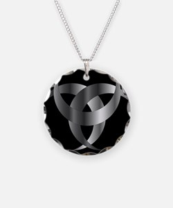 Horned Triskele- The horn of Necklace Circle Charm