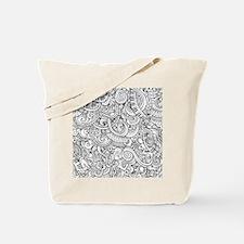Music Sketch Doodle Pattern Tote Bag