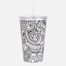 Music Sketch Doodle Pa Acrylic Double-wall Tumbler