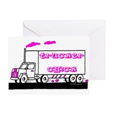 Trucker Chick Tshirt and Gift Greeting Card
