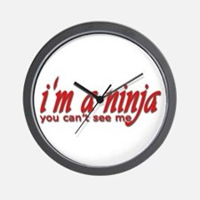 you cant see me Wall Clock
