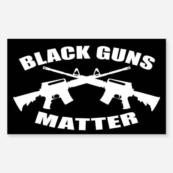 Black Guns Matter Sticker (Rectangle)