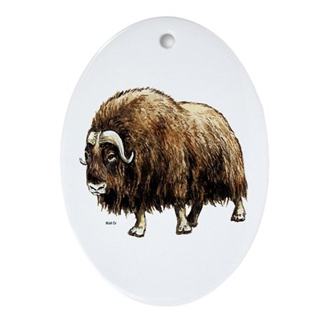 Musk Ox Artic Oval Ornament