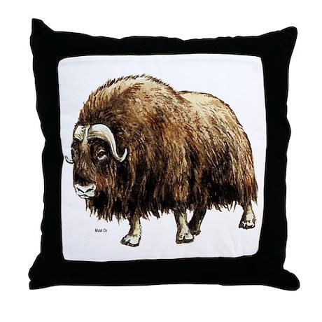 Musk Ox Artic Throw Pillow