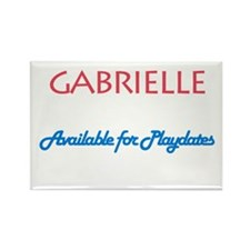 Gabrielle - Available For Pla Rectangle Magnet (10