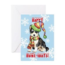 Holiday Husky Greeting Card