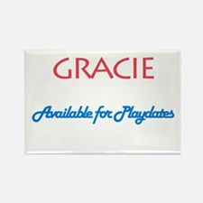 Gracie - Available For Playda Rectangle Magnet (10