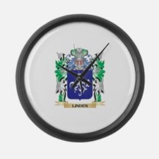 Linden Coat of Arms - Family Cres Large Wall Clock