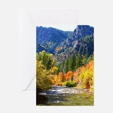 Wood camp Greeting Cards