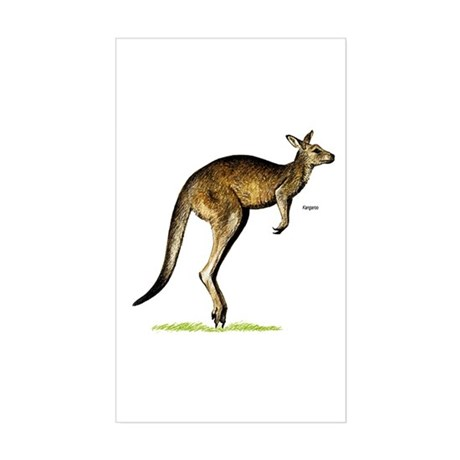 Kangaroo Australia Rectangle Sticker