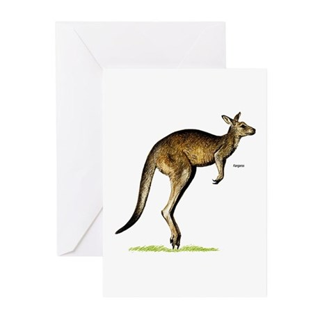 Kangaroo Australia Greeting Cards (Pk of 10)