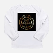 Golden sigil of Baphomet Long Sleeve T-Shirt