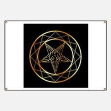 Golden sigil of Baphomet Banner