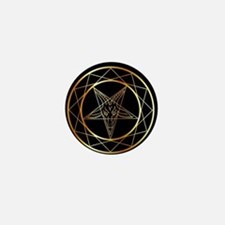 Golden sigil of Baphomet Mini Button