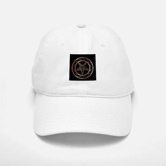 Golden sigil of Baphomet Baseball Baseball Cap