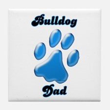 Bulldog Dad3 Tile Coaster
