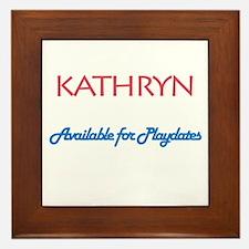Kathryn - Available For Playd Framed Tile