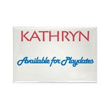 Kathryn - Available For Playd Rectangle Magnet (10