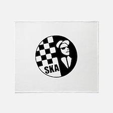 Ska Rude Boy and Rude Girl Throw Blanket
